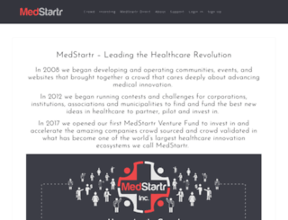 about.medstartr.com screenshot