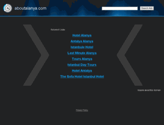 aboutalanya.com screenshot