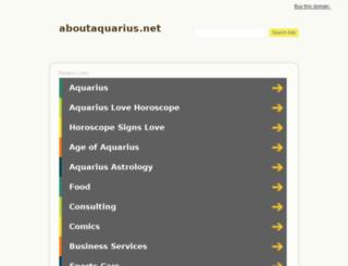 aboutaquarius.net screenshot