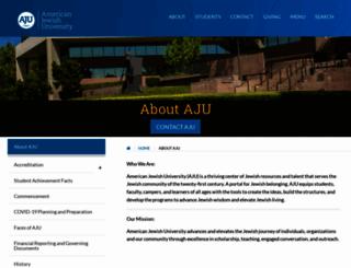 aboutus.aju.edu screenshot
