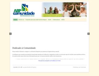 abpcomunidade.org.br screenshot