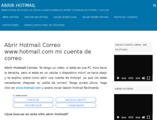 abrirhotmail.com screenshot