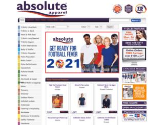 absoluteapparel.co.uk screenshot