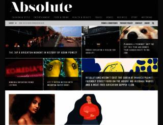 absolutemagazine.co.uk screenshot