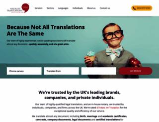 absolutetranslations.com screenshot
