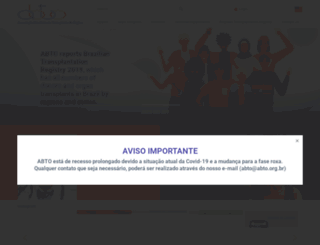 abto.org.br screenshot