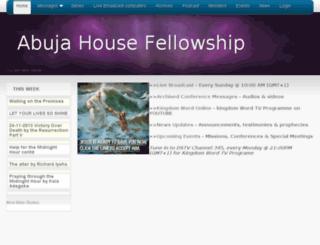 abujahousefellowship.com screenshot