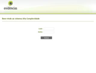ac.evidencias.com.br screenshot