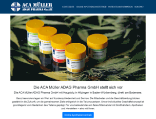 aca-mueller-gmbh.de screenshot
