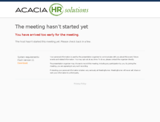 acaciahrsolutions.enterthemeeting.com screenshot