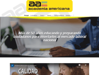 academiaamericana.com screenshot