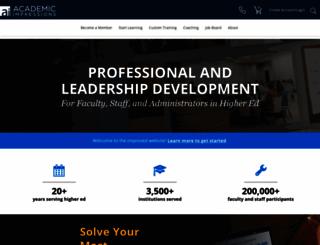 academicimpressions.com screenshot