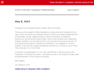 academicnews.trine.edu screenshot
