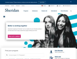 academics.sheridancollege.ca screenshot