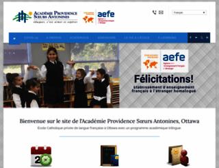 academieprovidence.ca screenshot