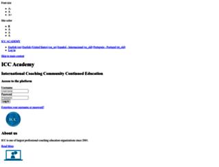 academy.internationalcoachingcommunity.com screenshot