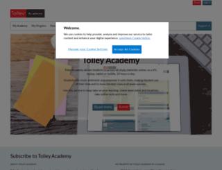 academy.tolleytraining.co.uk screenshot