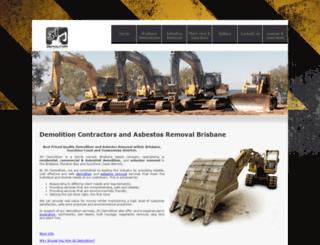 acadiademolition.com screenshot