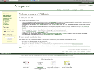 acampamento.wikidot.com screenshot