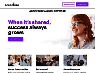 accenturealumni.com screenshot