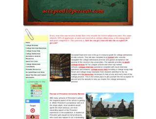 accepted10percent.com screenshot