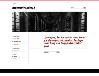 accessibleunder13.wordpress.com screenshot