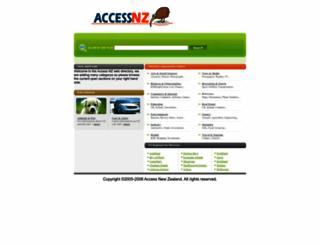 accessnz.co.nz screenshot