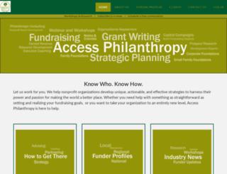 accessphilanthropy.com screenshot