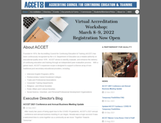 accet.org screenshot