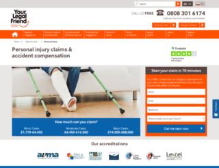 accidentatworkcompensation.org screenshot