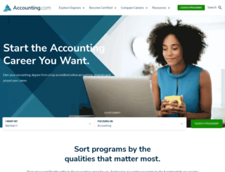 accounting-degree.org screenshot