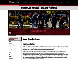 accounting.uwaterloo.ca screenshot