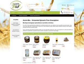 accro-bio.fr screenshot