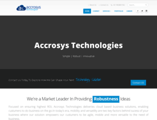 accrosystechnologies.co.in screenshot