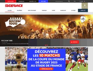 accueil.stadefrance.com screenshot