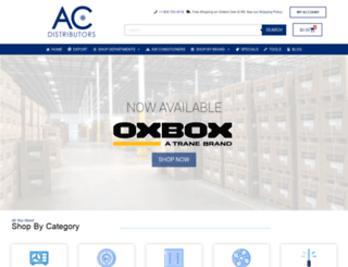 acdistributors.com screenshot