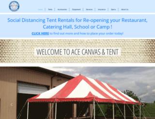 acecanvasandtent.com screenshot