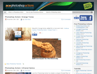 acephotoshopactions.com screenshot