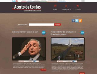 acertodecontas.blog.br screenshot