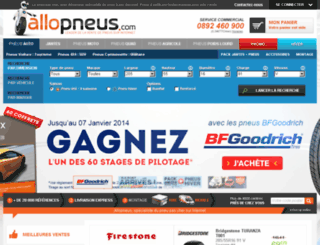 achat-pneu.allopneus.com screenshot