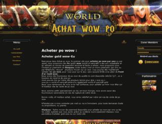 achat-wow-po.com screenshot
