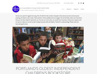 achildrensplacebookstore.com screenshot