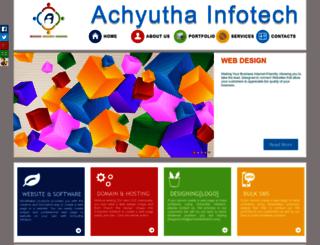 achyuthainfotech.com screenshot