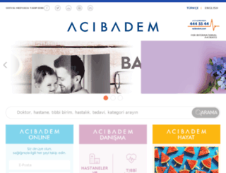 acibademhastanesi.com.tr screenshot