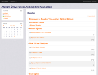 acikders.atauni.edu.tr screenshot