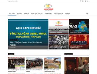 acikkapidernegi.org.tr screenshot