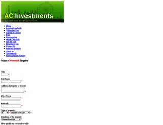 acinvestments.co.uk screenshot