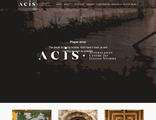 acis.org.au screenshot