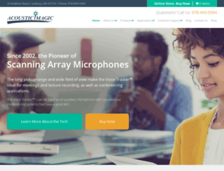 acousticmagic.com screenshot