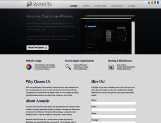 acousticwebdesign.net screenshot
